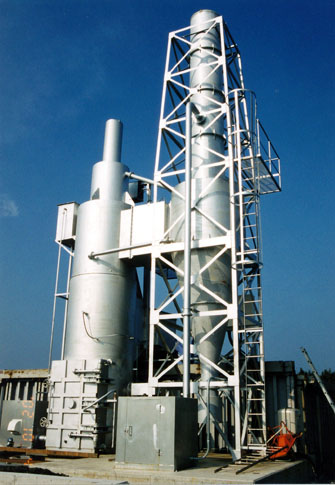 SH-900型 建設資材他用大型焼却炉